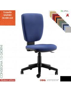START sedia operativa contatto permanente schienale up-down base nylon rivestimenti ecopelle GAZEBO