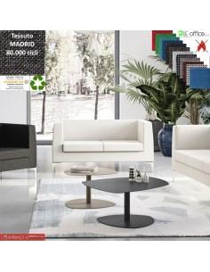 DEXTER divano 2 posti attesa rivestimento tessuto MADRID class 1IM