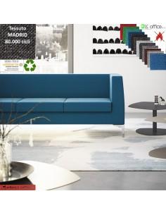 DEXTER divano 3 posti attesa rivestimento tessuto MADRID class 1IM