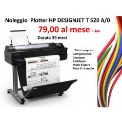 Noleggio Plotter Serie HP Designjet T520 ePrinter