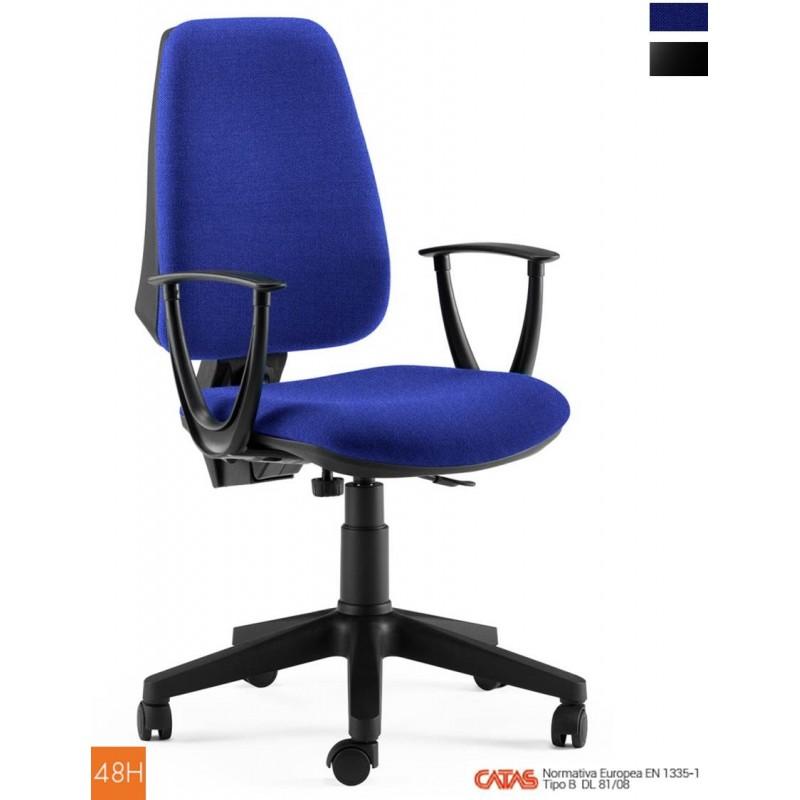 Sedia per ufficio 3 colori certificata catas imbottita tessuto for Sedia poltrona