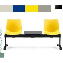 Panca attesa  2 sedute con tavolino Alexia 4