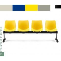 Panca attesa 4 sedute Alexia 7