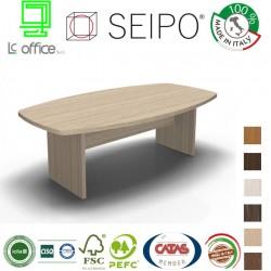 Tavolo riunione piano sagomato monoblocco struttura legno