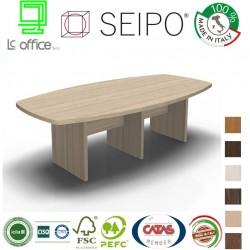 Tavolo riunione piano due pezzi struttura legno