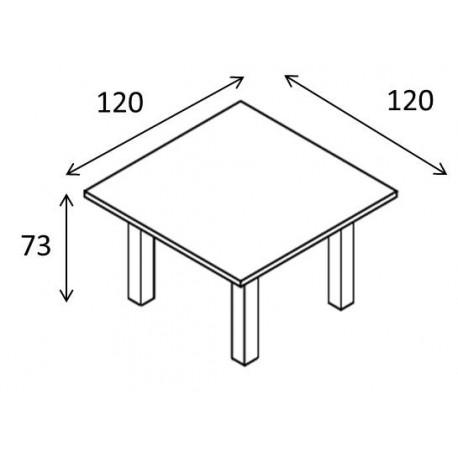 Tavolo riunione piano monoblocco struttura legno