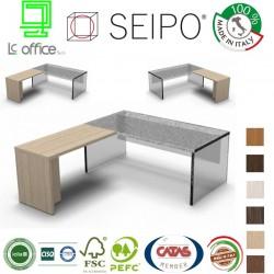 Estensione scrivania con strutture legno SX e DX