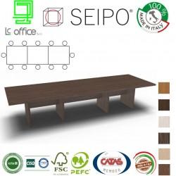 Tavolo riunione 10 posti con piano struttura legno