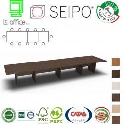 Tavolo riunione 12 posti con piano struttura legno