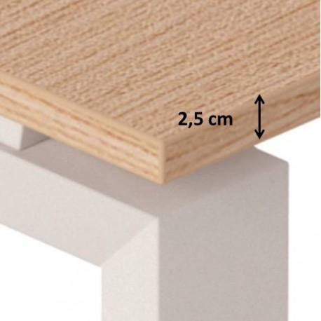 spessore piano 2,5 cm