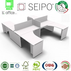 Panel Scrivania benches bianco