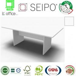 Panel Tavolo Bianco lineare monoblocco e lineare con strutture ponte