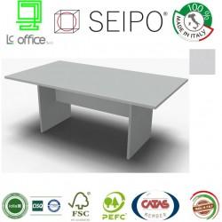 Panel Tavolo Grigio monoblocco e lineare con strutture ponte