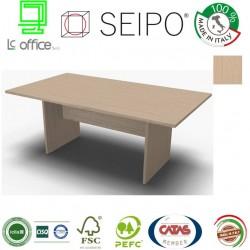 Panel Tavolo Rovere Chiaro monoblocco e lineare con strutture ponte