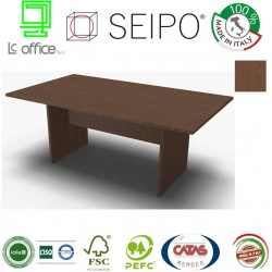 Panel Tavolo Rovere Tabacco monoblocco e lineare con strutture ponte
