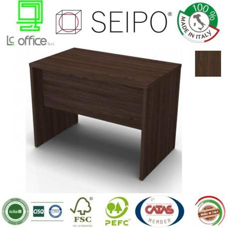 Scrivania Noce Scuro.Panel Scrivania Noce Scuro Monoblocco E Lineare Con Strutture Ponte