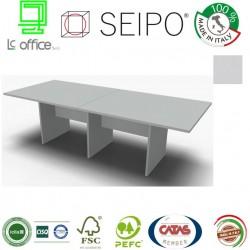 Panel Tavolo Grigio a due pezzi e lineare con strutture ponte