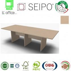 Panel Tavolo Rovere Chiaro a due pezzi e lineare con strutture ponte