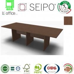 Panel Tavolo Rovere Tabacco a due pezzi e lineare con strutture ponte