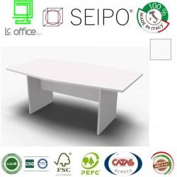 Panel Tavolo Bianco monoblocco e sagomato con strutture ponte