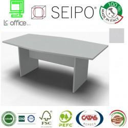 Panel Tavolo Grigio monoblocco e sagomato con strutture ponte