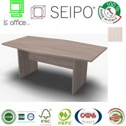 Panel Tavolo Olmo Chiaro monoblocco e sagomato con strutture ponte
