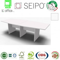Panel Tavolo Bianco a due pezzi e sagomato con strutture ponte