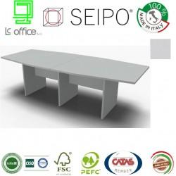 Panel Tavolo Grigio a due pezzi e sagomato con strutture ponte
