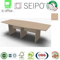 Panel Tavolo Rovere Chiaro a due pezzi e sagomato con strutture ponte
