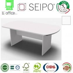 Panel Tavolo Bianco monoblocco e ovale con strutture ponte