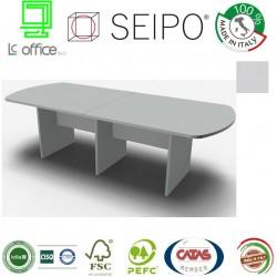 Panel Tavolo  Grigio a due pezzi e ovale con strutture ponte