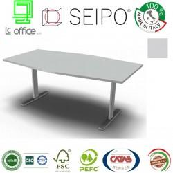T-Leg Tavolo Riunione Grigio sagomato e monoblcoco p 100
