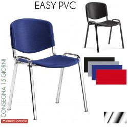 Easy Sedia impilabile con telaio cromato in PVC