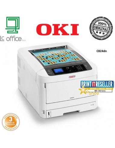Stampante laser A3 colore Oki C824dn 47228002