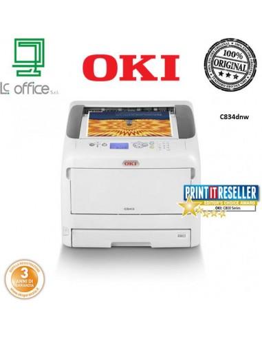 Stampante laser colore A3 wifi Oki C834dnw 47228005