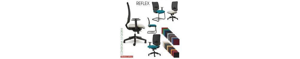 Sedia per ufficio con schienale in rete