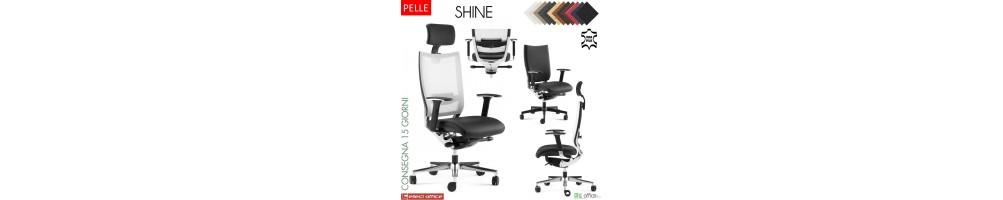 Poltrona e sedia direzionali in pelle