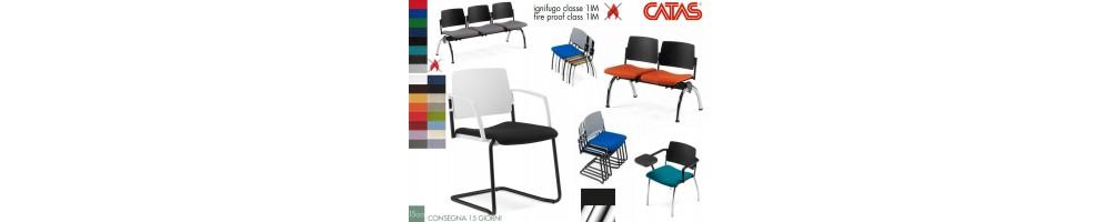 Sedie impilabile e panche per sala attesa e coletività