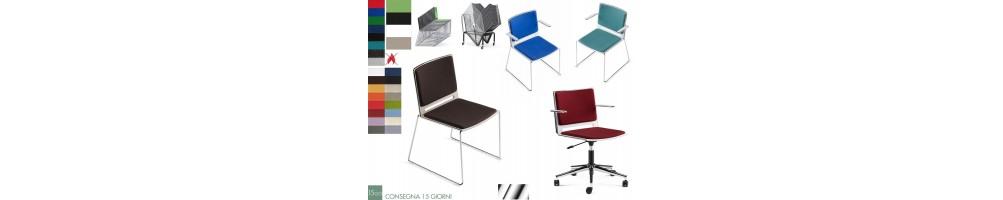 Sedie impilabile e sedie operative con rivestimenti ignifugo