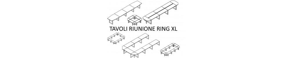 Tavoli riunione Ring con strutture ad annelo