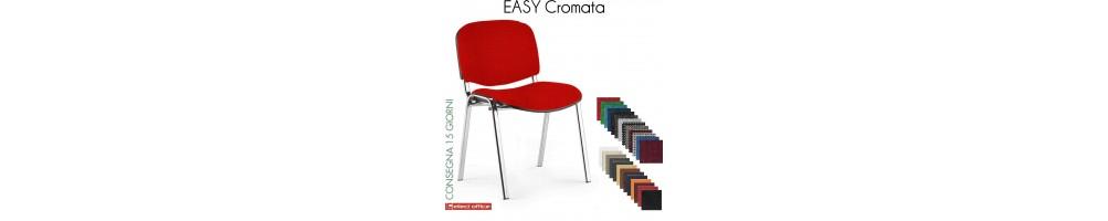 Sedie impilabile Easy per coletività class 1 IM ignifugo con struture cromata