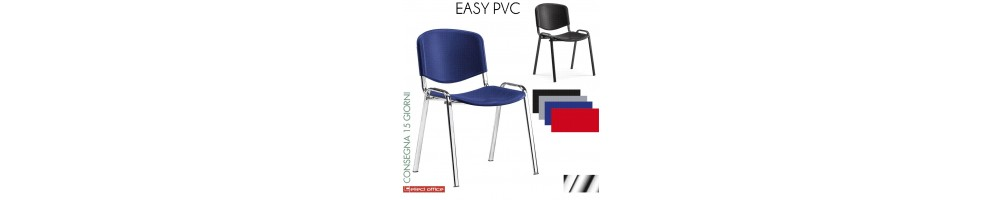 Sedie impilabile Easy per coletività seduta in PVC