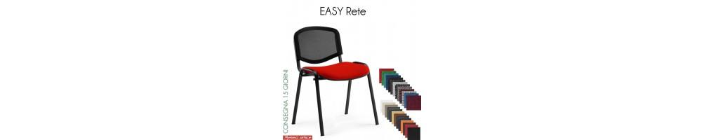 Sedia impilabile con con schienale in rete